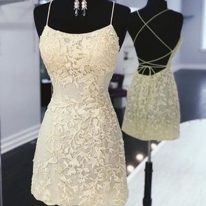 NWT Ivory lace Homecoming dress